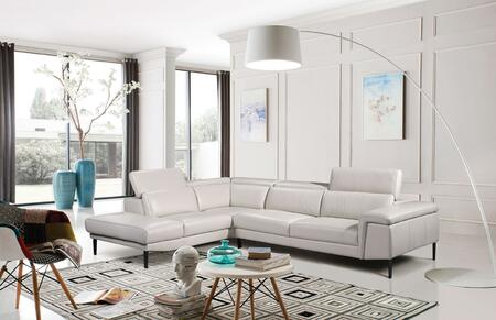 ESF i17496i17497 Sectional with Leather in white