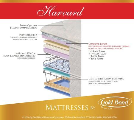 "Gold Bond 850 Natural Support Collection 11.75"" High X Size Harvard Pillow Top Youth Mattress"