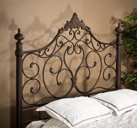 Hillsdale Furniture 1742 Baremore Headboard with Rails, Romantic Design and Tubular Steel Construction in Antique Brown Finish