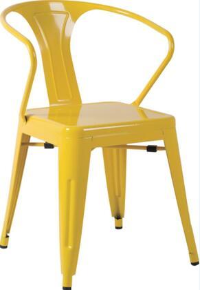Chintaly 8023SCYLW 8023 Series Residential Not Upholstered Bar Stool