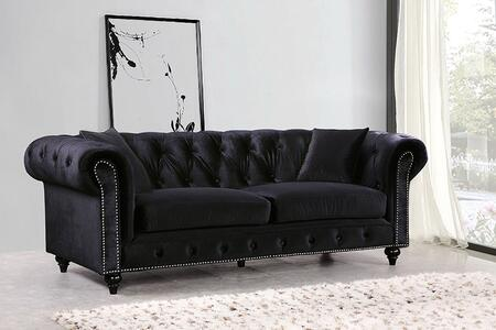 "Meridian Chesterfield 662-S 87"" Sofa with"