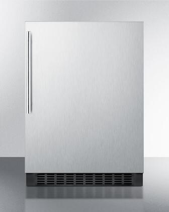 """Summit FF64BXSSHV 24""""  Stainless Steel Compact Refrigerator with 4.6 cu. ft. Capacity"""