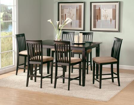 Atlantic Furniture DECO3660STPT Deco Series 36x60 Solid Top Pub Height Table: