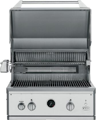 """GE Monogram ZGG300 30"""" Built-In Gas Grill with 2 Stainless Steel Burners, Ceramic-infrared Rotisserie Burner, Smoker Box, and Cutting Board, in Stainless Steel"""