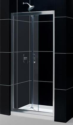 """DreamLine DL-62 Butterfly Frameless Bi-Fold Shower Door and SlimLine 30"""" by 60"""" Single Threshold Shower Base Center Drain in"""