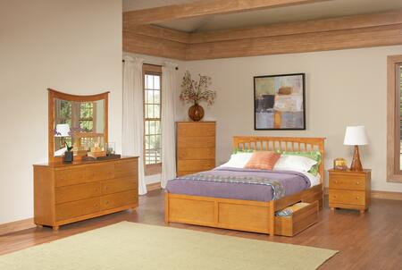 Atlantic Furniture BROFPCLKG Brooklyn Series  Bed