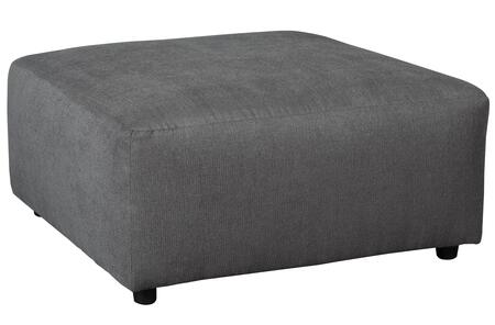 """Signature Design by Ashley Jayceon 6490X08 40"""" Fabric Oversized Accent Ottoman with Rounded Edges and Small Round Feet in"""