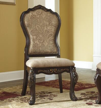 Benchcraft D67801 Old World Fabric Wood Frame Dining Room Chair