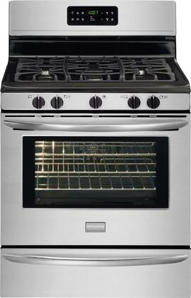 "Frigidaire DGGF3042KF 30"" Gallery Series Gas Freestanding Range with Sealed Burner Cooktop, 5.0 cu. ft. Primary Oven Capacity, Storage in Stainless Steel"