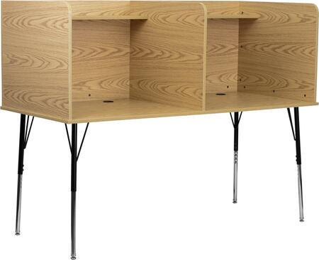 Flash Furniture MTM6222OAKDBLGG Computer  MDF Desk