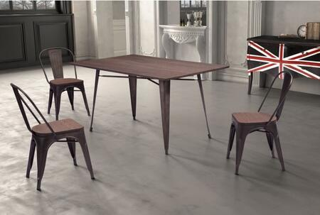 Zuo 109127KIT2 Titus Dining Room Sets