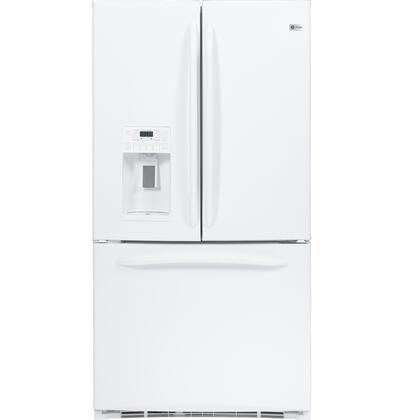 GE PFSF5RKZWW  French Door Refrigerator with 25.1 cu. ft. Total Capacity 6 Glass Shelves