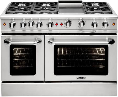 """Capital Precision Series MCR486G-X 48"""" Freestanding X Range with 6 Sealed Burners, Primary 4.6 Cu. Ft. Oven Capacity, and Secondary 2.1 Cu. Ft. Oven Capacity, in Stainless Steel"""