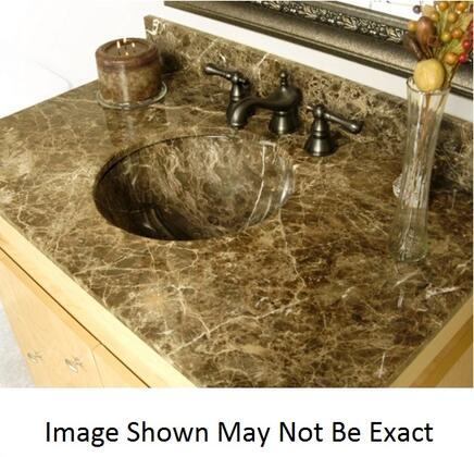 D'Vontz SLA2522-UC Vanity Top For Round Undermount Stone Sink With Natural Stone Construction & In