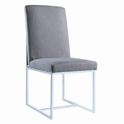 Coaster 107143 Jackson Series Transitional Fabric Metal Frame Dining Room Chair