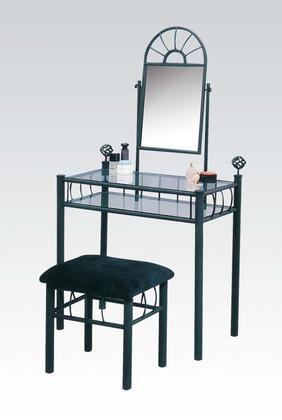 Acme Furniture 02158 Sunburst Series Metal None Drawers Vanity
