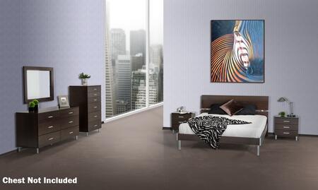 VIG Furniture VGDEBRAVOFWGESET Modrest Bravo Series 5 Piece Bedroom Set