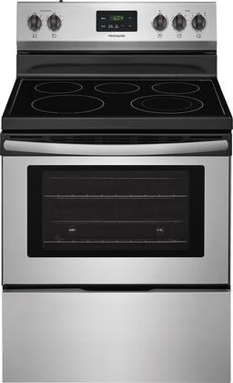 "Frigidaire FFEF3052T 30"" Electric Range with 5 Elements, 4.9 cu. ft. Oven Capacity, Store-More Storage Drawer, Manual Oven Clean, in"