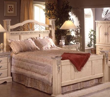 Sandberg 176I Belladonna Palace Series  King Size Panel Bed