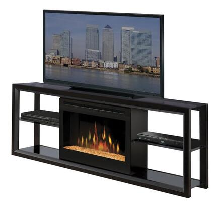 """Dimplex SGFP-300- Novara Collection Media Console - Supports up to a 60"""" Flat Screen TV, 25"""" Landscape Firebox with Glass Ember Bed:"""