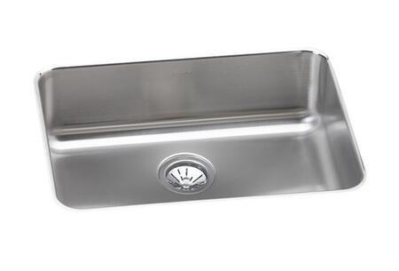 "Elkay ELU231712 24"" Undermount Sound Guard Undercoating Single Bowl 18-Gauge Stainless Steel Sink"