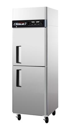 Turbo Air JRF Dual Temperature Unit with 2 Solid Doors, Digital Temperature Control System, High Tech Monitor, Two Separate Refrigeration Systems and Stainless Steel Cabinet Construction