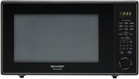 """Sharp R659Y Counter Top Microwave with 2.2 cu. ft. Capacity,  5 Sensor Cook Programs, 1200 Watts, 10 Power Levels, 16"""" Carousel Turntable, Auto & Time Defrost, and Child Safety Lock"""