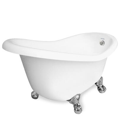 American Bath Factory T010A- Ascot Bathtub no Faucet Holes, Waste & Overflow Included, 40 Gallon Capacity: