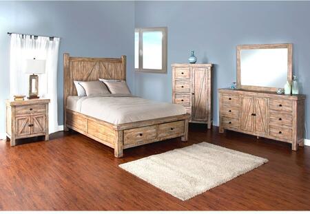 Sunny Designs 2307WBSKBDMNC Durango King Bedroom Sets