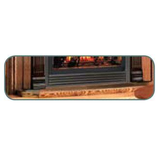"Napoleon HPLXW 56"" Wood Hearth Pad in X for Gas Burning Fireplaces"