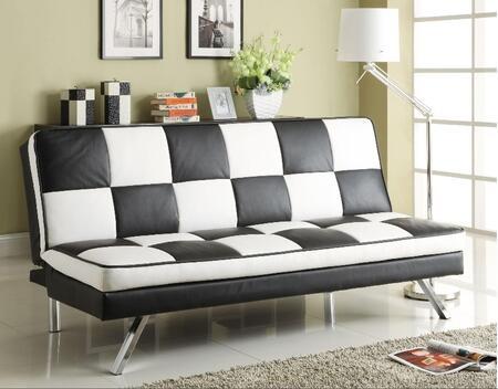 Coaster 300225  Convertible Faux Leather Sofa