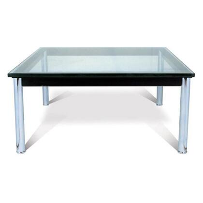 Fine Mod Imports FMI1204X LC10 Collection, Square Coffee Table With Glass Top
