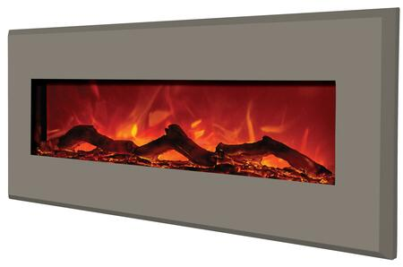 "Amantii WMBI586421 58"" Electric Fireplace with 3 Stage Heater, 4 Stage Back Lighting, Remote Control, Steel Surround, Digital Display and Programmable Thermostat in"