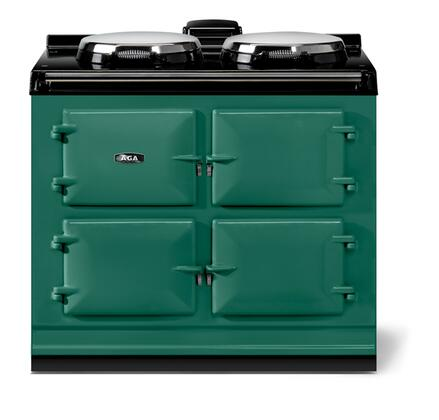 "AGA ATC3BRG 40"" Total Control Series Slide-in Electric Range with Smoothtop Cooktop, 1.5 cu. ft. Primary Oven Capacity, in British Racing Green"
