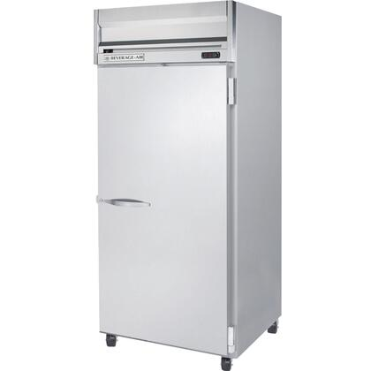 Beverage-Air HRP1-1 Horizon Series One Section [Solid Door] Reach-In Refrigerator, 24 cu.ft. capacity, Stainless Steel Front and Sides, Aluminum Interior