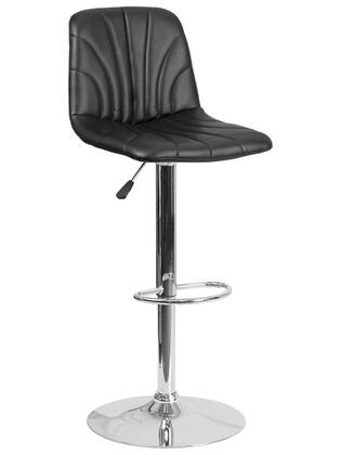 "Flash Furniture DS-8220 37""-46"" Bar Stool with Adjustable Height, Vinyl Upholstery, CA117 Fire Retardant Foam and Chrome Base in"