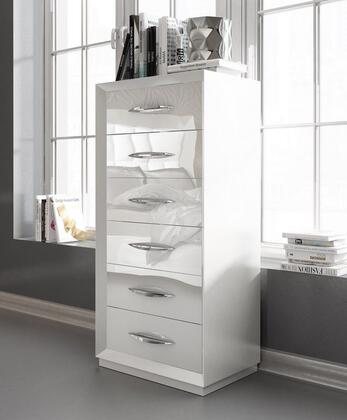 """ESF Carmen Collection I11323I11610 24"""" Chest with 6 Drawers, Self-Closing Mechanism, Silver Metal Hardware and Wood Construction"""
