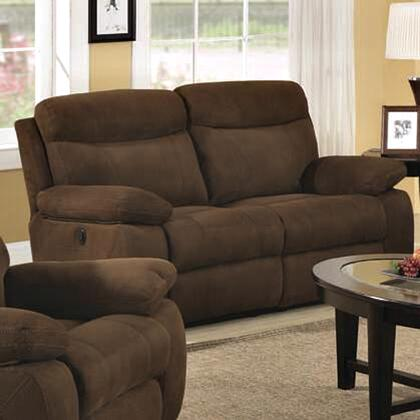 Coaster 600612 Microfiber Reclining with Wood Frame Loveseat