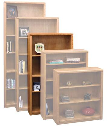 Legends Furniture CC6660LTO Contemporary Series Wood 3 Shelves Bookcase