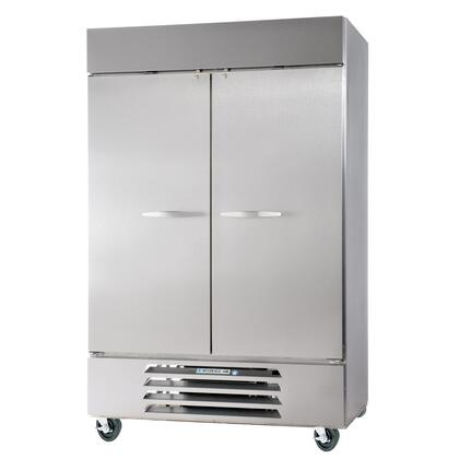 """Beverage-Air HBR49-1 52"""" Horizon Series Two Section [Solid Door] Reach-In Refrigerator, 49 cu.ft. Capacity, Stainless Steel Exterior and Interior, with Bottom Mounted Compressor"""