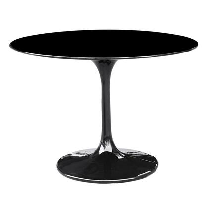 "Fine Mod Imports FMI1149-27 27"" Flower Dining Table In Lacquered Gloss Finish:"