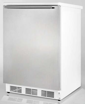 Summit FF6L7BISSHH  Built In / Freestanding  Refrigerator with 5.5 cu. ft. Capacity,  Field Reversible Doors