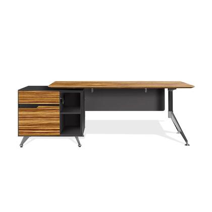 Unique Furniture 483X Executive Desk with Left Cabinet