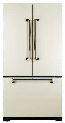 AGA AMLFDR20IVY Legacy Series Counter Depth French Door Refrigerator with 19.8 cu. ft. Total Capacity 4 Glass Shelves