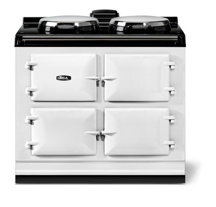 "AGA ATC3WHT 40"" Total Control Series Slide-in Electric Range with Smoothtop Cooktop, 1.5 cu. ft. Primary Oven Capacity, in White"