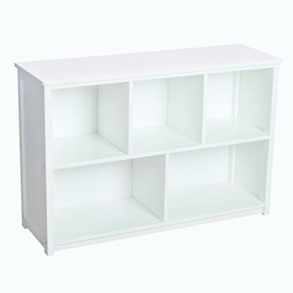 Guidecraft G85707 Classic White Series Wood 5 Shelves Bookcase