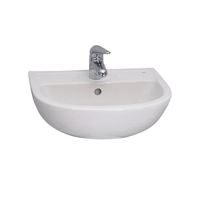 "Barclay 454 20"" Compact Wall Hung Basin with in White"