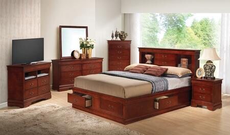 Glory Furniture G3100 6 Piece King Size Bedroom Set