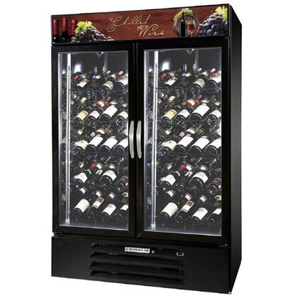 "Beverage-Air MMRR49-1 MarketMax 52"" Two Section Glass Door Reach-In Wine Merchandiser with LED Lighting, 49 cu.ft. Capacity, [Color] Exterior and Bottom Mounted Compressor"