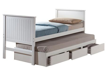 Acme Furniture 30035T Bungalow Series  Twin Size Platform Bed